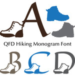 qfd hiking boots monogram font