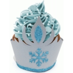 snow crown cupcake wrapper