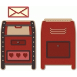 valentine mail drop box a7 easel slot card