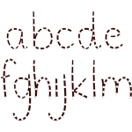 stitching templates - a-m (lowercase)