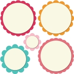5 scalloped circles