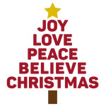 joy peace believe tree