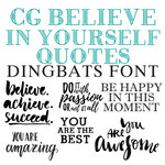 cg believe in yourself quotes dingbats