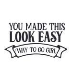 you made this look easy - way to go girl