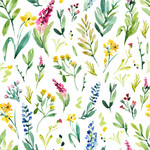 watercolor flower pattern