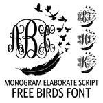 monogram elaborate script - free birds