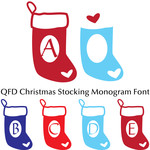 qfd christmas stocking monogram font