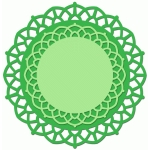 doily set of 2 interlocked curves