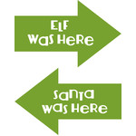 elf santa arrow signs