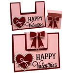 happy valentine's card with gift box