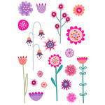 riot of flowers stickers