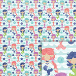 mermaids background paper