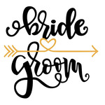 bride and groom wedding phrase