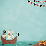 pirate ship background paper