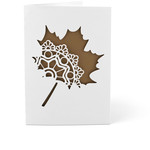 5x7 card ornate leaf