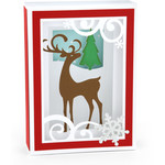 shadow box card reindeer