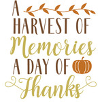 harvest memories day thanks