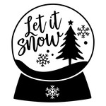 let it snow snowglobe