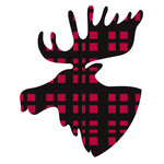 plaid moose head