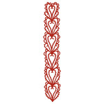 hearts lace border