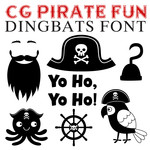 cg pirate fun dingbats