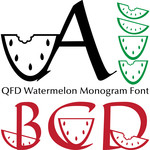 qfd watermelon monogram font