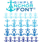 sg simple anchor font