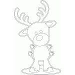 color me jingle bell reindeer