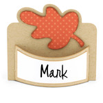 flexi place card oak leaf