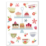 cakes printed greetings card