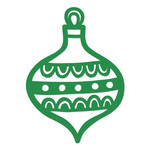 scalloped christmas ornament