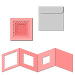nested square accordion card w envelope