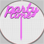 party time cake stick