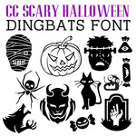 scary halloween dingbats