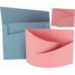 bendy card envelope set angled design