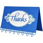 thanks card -  calligraphy