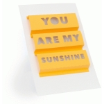 3d word art- you are my sunshine