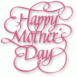 happy mother's day - flourished calligraphy