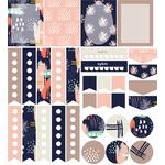 abstract planner stickers: navy set