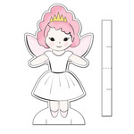 nutcracker paper doll set - sugar plum fairy paper doll