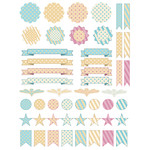 polka dot/stripes planner stickers