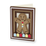gingerbread man shadow box card