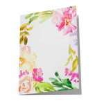 blank tropical flower card