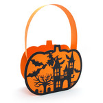 halloween pumpkin haunted house basket