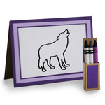 4 in. x 5.5 in. wolf coloring card and crayon box