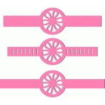 3 flower bands scalloped w ribbon slots