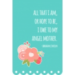 4x6 mother's day quote – angel mother