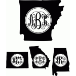 monogram elaborate script states A- Missouri Regular