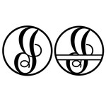 fancy monogram circle nameplate i