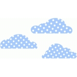 polka dot clouds